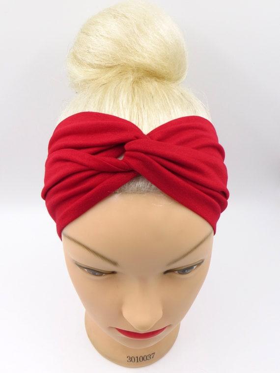Red Turban Headband Red Head wrap Red Headband adult Turban  cf18118a105