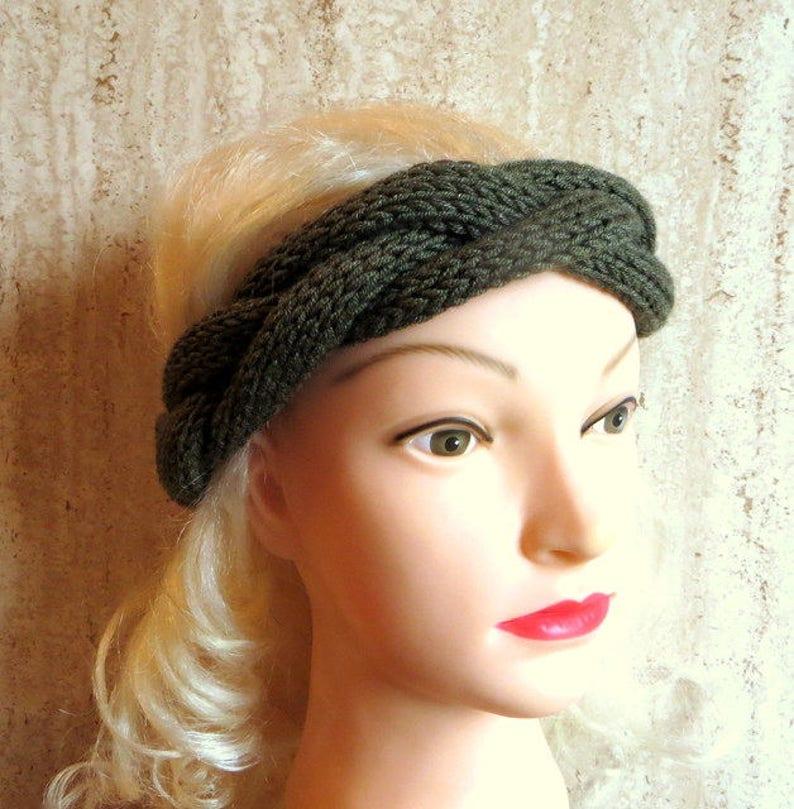 89c29b9b87d700 Wolle geflochten Stirnband Merino Wolle Kopf Geflecht stricken | Etsy