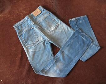 Vintage 80's Levi's 510 Orange Tab Jeans W 29 L 31