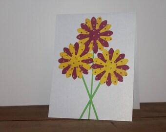 Little Yellow Polkadot Flowers card