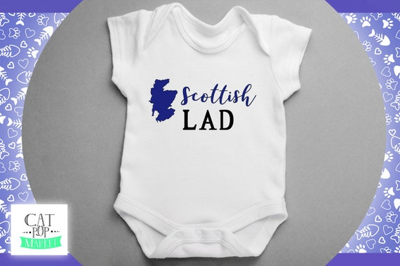 Wee Scottish Laddie Baby Bodysuit Babygrow One Piece Baby Scotland Scottish