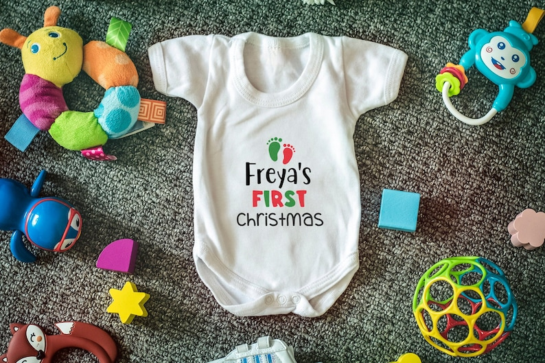 Cheeky Apparel My First Christmas Baby Onesie//T-Shirt Bodysuit