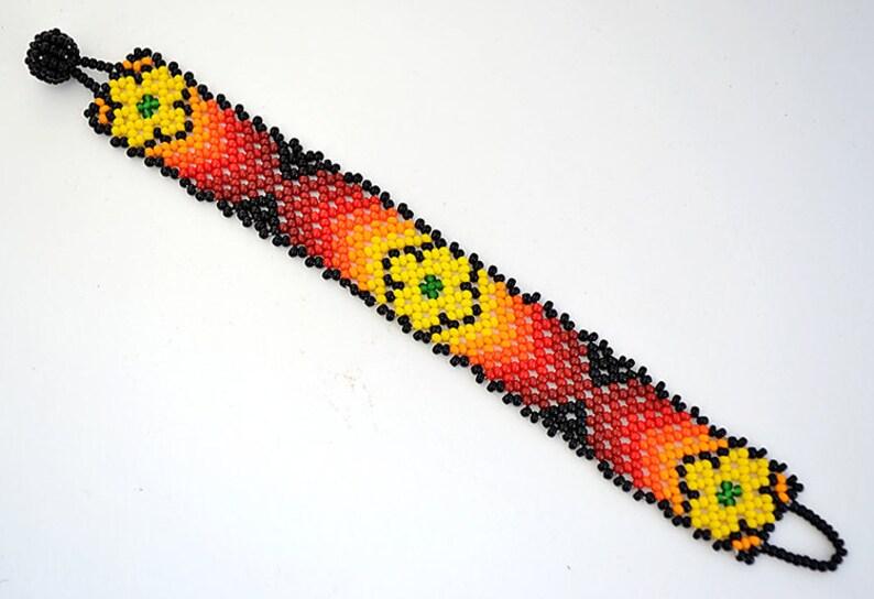 86d0c3f023dd Pulsera Chaquira, Boho bracelet, brazalete nativo americano, hecho a mano  por artesanos huicholes, plant medicine, mexican beaded, huichol