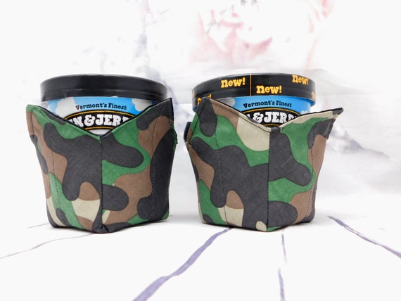 Ice cream pint cozy| Reversible cup cozy| quilted cup cozy| microwaveable safe cup cozy