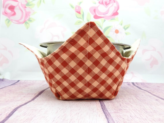 Microwave large Bowl cozy| 1 or 2 Lg bowl cozy| Soup bowl cozy| quilted bowl cozy