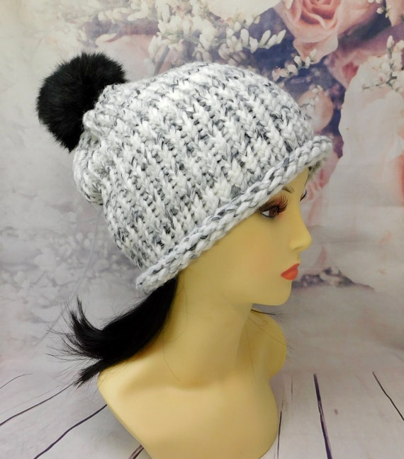 Marble knit beanie| Winter knit beanies| Ribbed knit beanie| Marble hat| knit hat