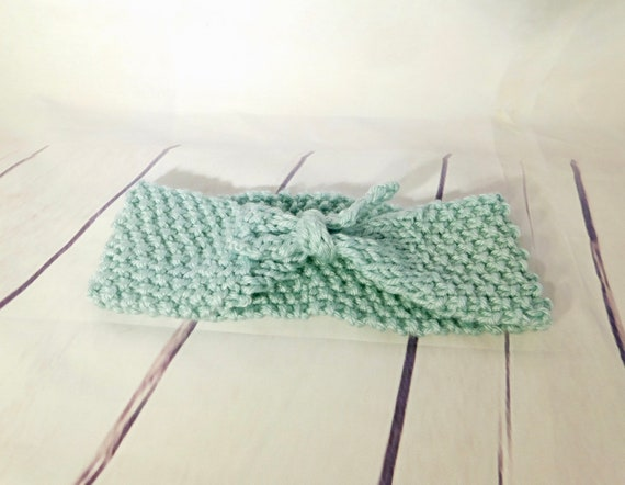 Tie headband| Headband| Headwrap| Sea green head band