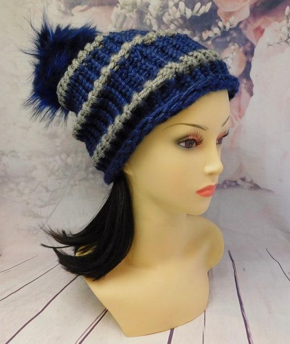 Team spirit hat|| simple ribbed beanie| team spirit beanie| blue beanie| 22 cir X 9 height