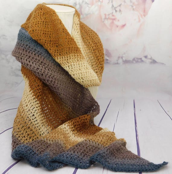 Brown Shawl| Brown wrap| crocheted shawl| Evening Shawl| crocheted wrap
