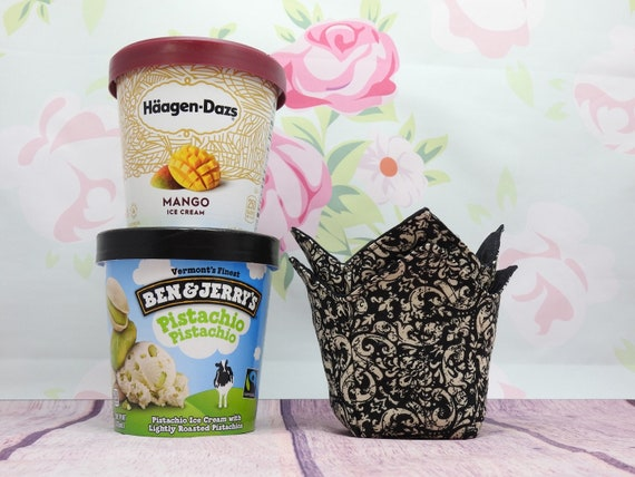 Ice cream pint cozy| Reversible cup cozy| microwaveable safe cup cozy| set of 2
