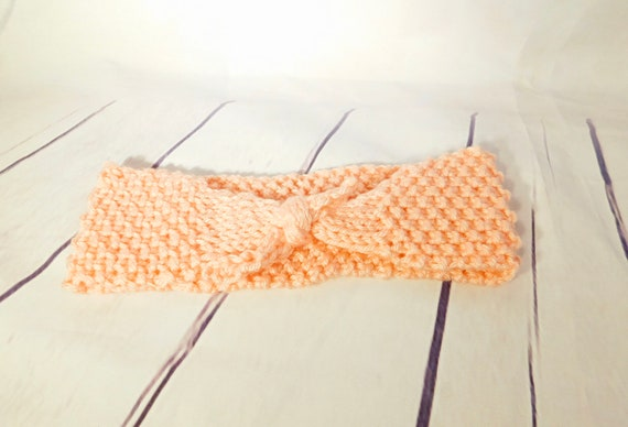 Tie headband| Headband| Headwrap| Light coral head band| peach head band