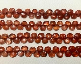 Sunstone Faceted Rondelles beads,Oregon sunstone faceted beads,AAA quality faceted sunstone beads,sunstone Rondelles Briolettes,5-6 mm,13