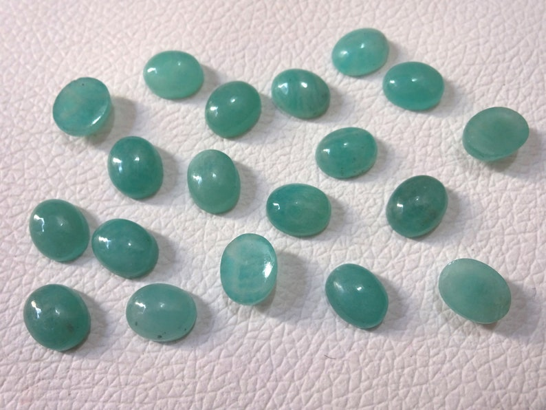 Superb gems for Jewellery 6X8 8X10 10X12 12X14 mm cabs 10 cabs AAA Amazonite Oval shape cabochon smooth cabochon tiny gems Tiny Cab