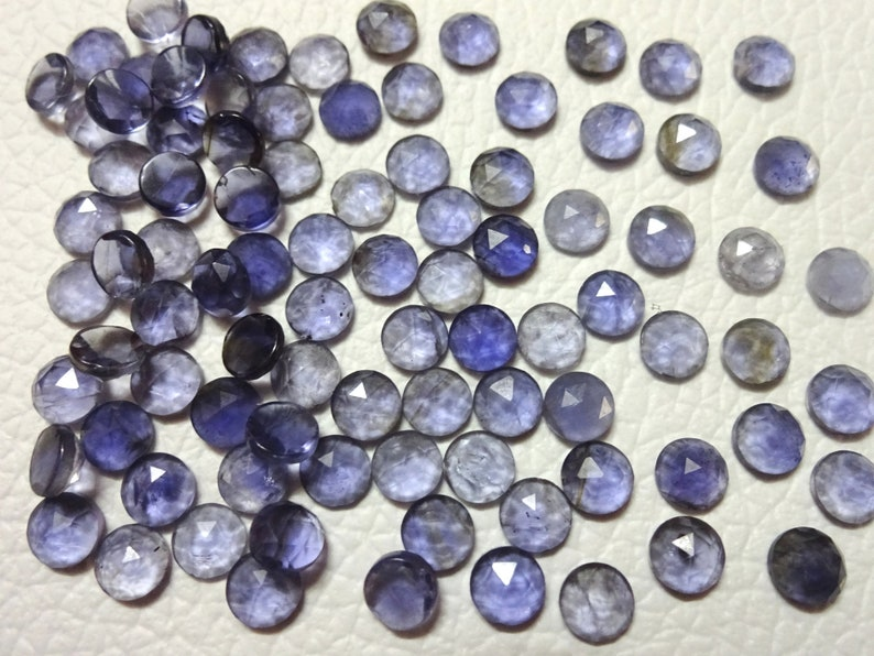 Tiny Cab 50 pieces 3 mm Calibrated IOLITE round Faceted cabochon Faceted cabochon Superb gems for Jewellery tiny gems