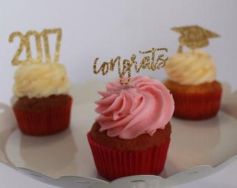 2018 Graduation Cupcake Topper – Class of 2018 – Congrats Cupcake Topper – 2018 Cupcake Topper – Grad Cap Cupcake Topper –Graduation Package