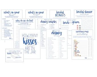 bridal shower games printables printable wedding shower games digital bridal shower gamesbundle package instant download disney songs