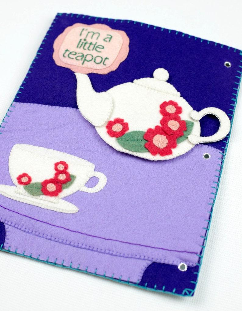 I'm A Little Teapot Felt Book Pattern PDF