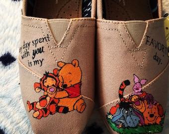 HandPainted Winnie the Pooh Shoes bfcb96131
