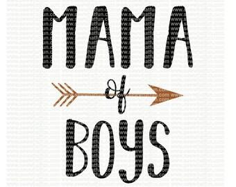 Mama of boys SVG, cutting file, vinyl file, svg, svg file, cameo file, cricut, mama, boy mama, boy, mom, svg file, cameo, mama of boys,