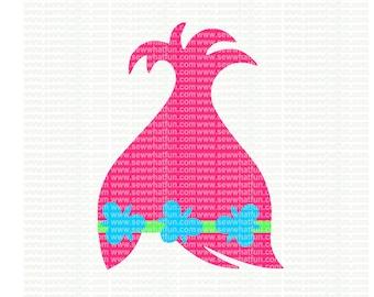 Troll SVG, cutting file, troll vinyl design, vinyl file, troll, svg file, cameo file, cricut, file, design, monogram frame, troll hair, hair