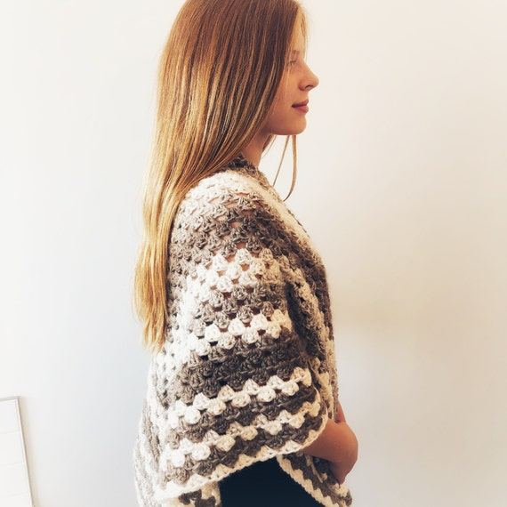 93ea97bdc Crochet Ombre Triangle Shawl Size Medium