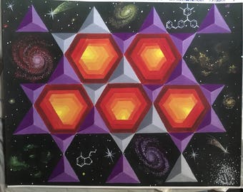 """11"""" by 14"""" Poster print of 'Geometry Unlocked'"""