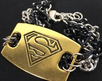 Superman Multi Chain Bracelet