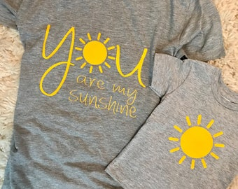 d60ef6745348a YOU are MY SUNSHINE matching mommy and me shirts // You Are My Sunshine  shirt set // Matching Mommy and Me Shirts