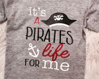 075dafd8e It's A PIRATES LIFE for ME Kids Tee // Pirates Life Kids T-Shirt // Kids  Pirate Shirt // Pirate Cruise Tee