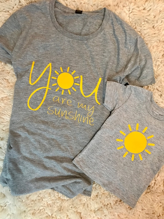 You Are My Sunshine Matching Mommy And Me Shirts You