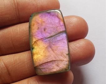Size 45*31*7mm 85Cts Gemstone for Jewelry Making Oval Shape Designer Purple Labradorite Gemstone Rare Flashy Purple Labradorite Cabochon