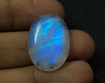 Size 21*16*6mm 16Cts Designer Cabochon Rare AAA Rainbow Moonstone Cabochon Pear Shape Rainbow Flashy Rainbow Moonstone Loose Gemstone
