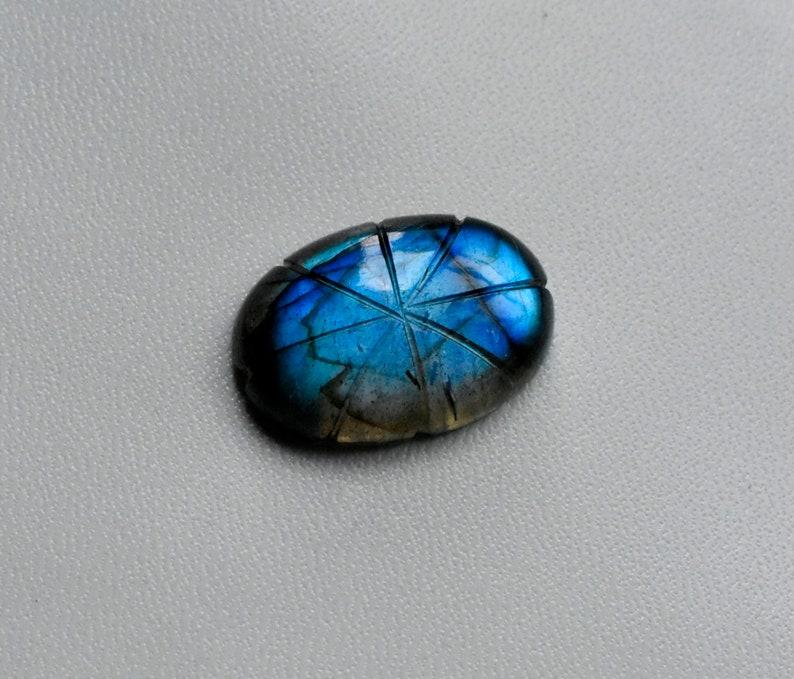 Natural Labradorite Cabochon 20 \u00d7 17 \u00d7 5 MM