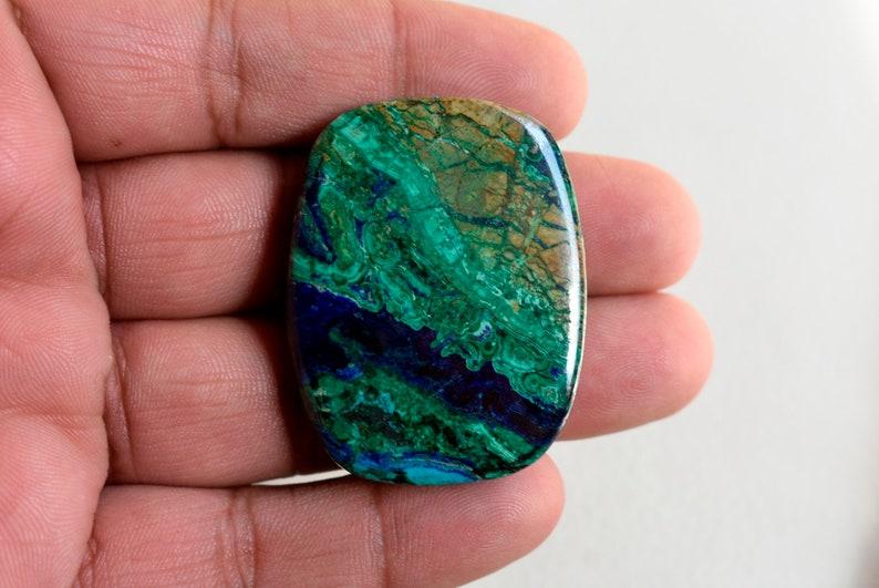 Natural Dark Blue And Green SingleLooseGemstone Azurite Malachite Cabochon. AA