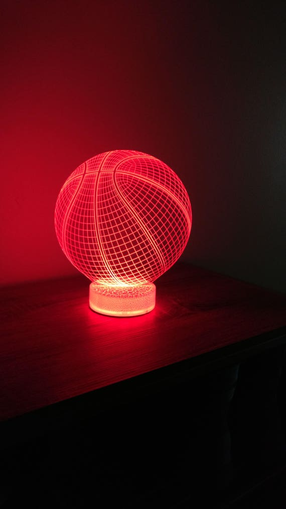 Basketball 3d Night Lamp 3d Night Light Children Light Home Etsy