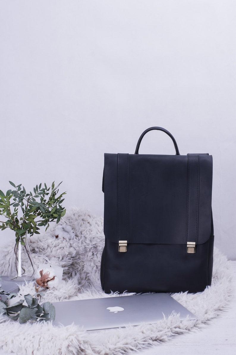 2005b9b22 Leather Backpack Bag Backpack For Women Black Backpack   Etsy
