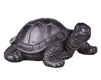 Decorative Stone Statue / Figurine Turtle / Tortoise 8cm (3.2'') black