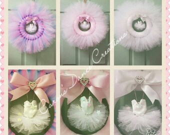 Tulle Tutu Wreath. Wall Decor. Ballet. Pointe shoe. Tutu. Dance Gift. Gift Idea.