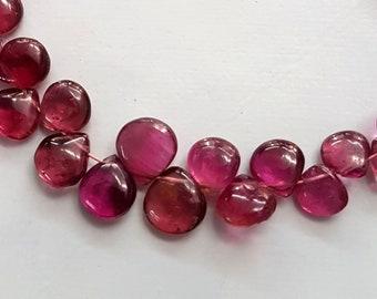 Natural Paraiba Tourmaline smooth heart shaped briolettes,Tourmaline beads,Tourmaline gemstone,Paraiba tourmaline,6-9 mm 24 pieces E4913