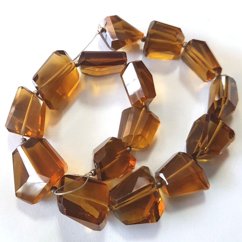 AAA quality Affordable Price 9x6.5 mm Bead for Jewelry making Natural Beer Quartz Oval Faceted Beads Loose Gemstone 13 strand