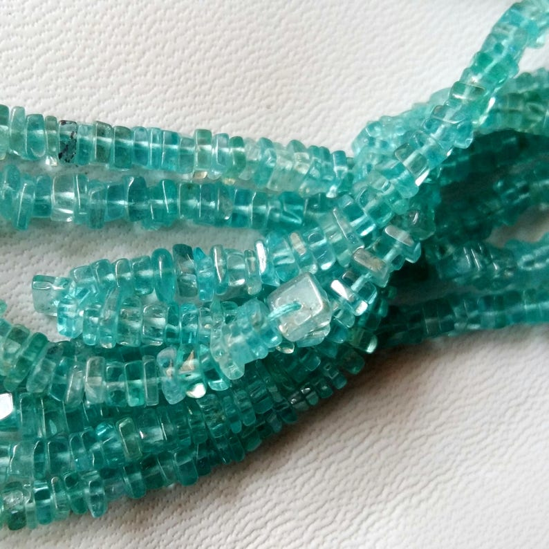 E2520 APATITE smooth heishi beads Apatite loose beads apatite square heishi beads,very nice quality 3 mm to 4 mm approx,16strand