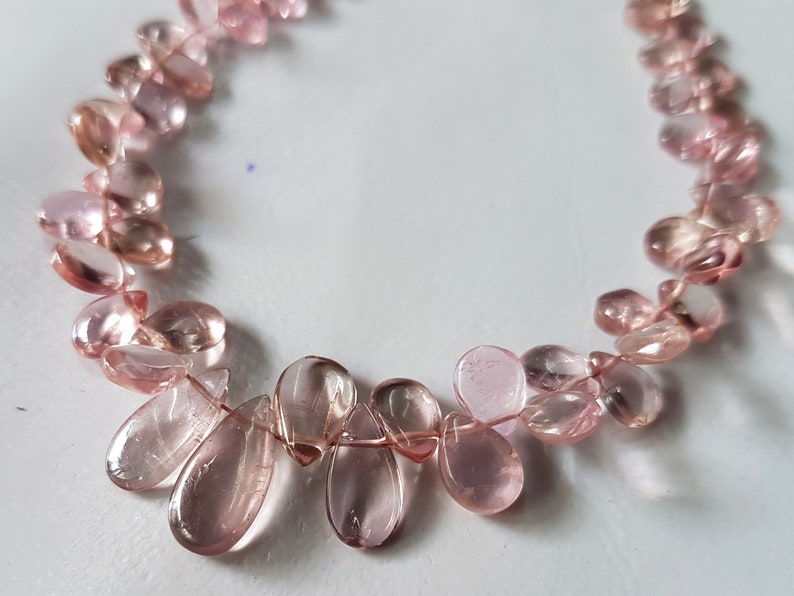 Natural PINK TOURMALINE Gemstone Plain Pear Beads Pink Tourmaline loose beads,Tourmaline Necklace 3.5x4.5-6x12 mm 8 inch strand E5451