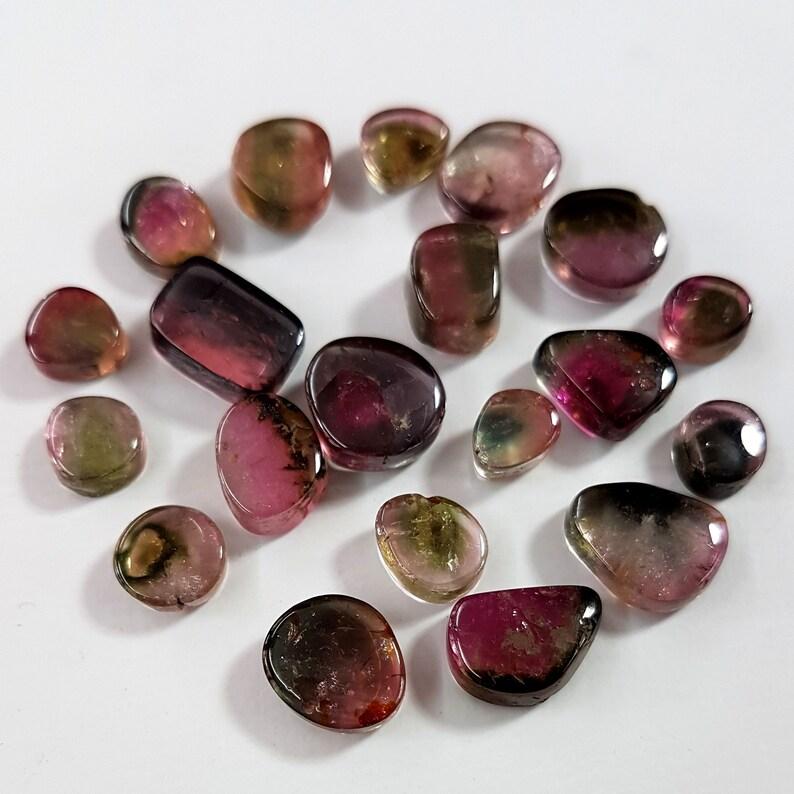 Natural Tourmaline gemstone,Watermelon Tourmaline cabochons,loose gemstones,Tourmaline cabochon,20 pieces,5x5-6x9 mm,35 ct.Approx E7133