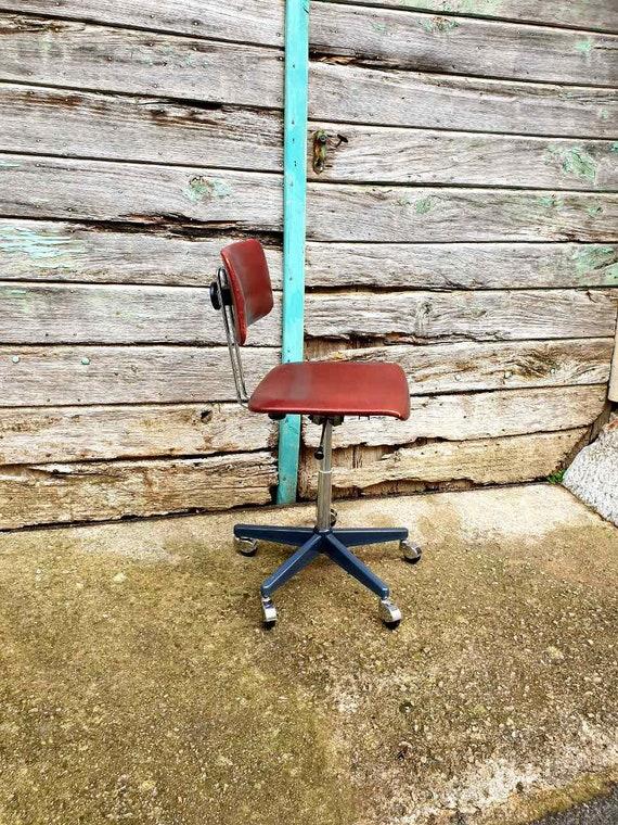 Brilliant Mid Century Modern Office Chair Vintage Industrial Chair Niko Kralj Vinyl Desk Chair Stol Kamnik Yugoslavia 60S Ocoug Best Dining Table And Chair Ideas Images Ocougorg