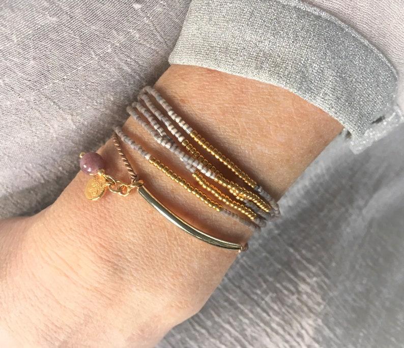 Adjustable silk bracelet Mothersday gift Wishing Card Bracelet