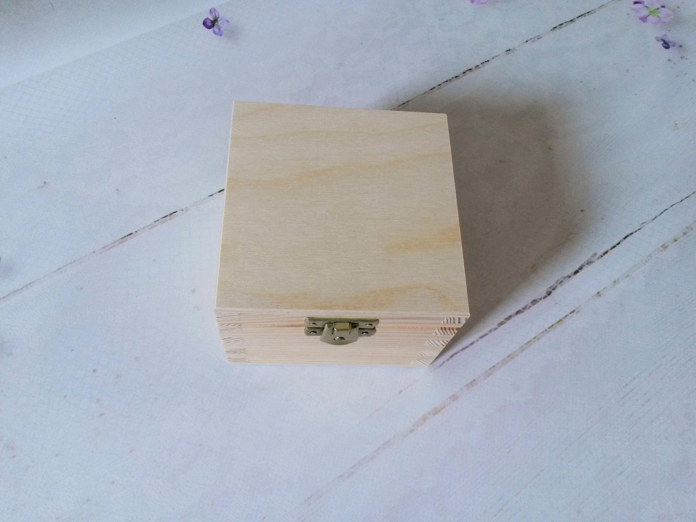 Kleine Holzkiste unbehandeltes Holz-Box DIY Holz-Box leere