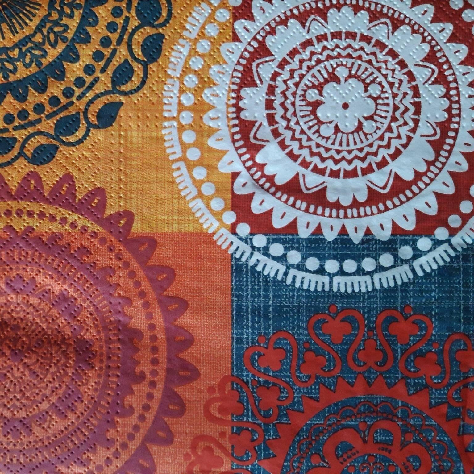 4 Printed Paper Napkins Patterned Napkins Decoupage Napkin