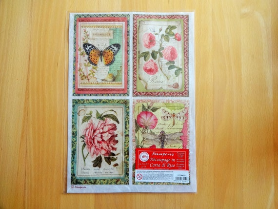 Rice Paper for Decoupage Scrapbook Craft Cats 694
