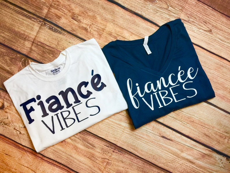 aad3c6c7a1aa Fiance   Fiancee Vibes Couples Shirts Engagement Couples