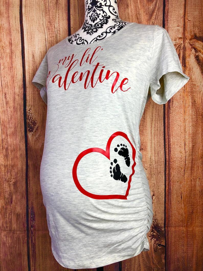 1fbff0ef02f15 My Lil Valentine Maternity Shirt Valentine's Day Maternity   Etsy
